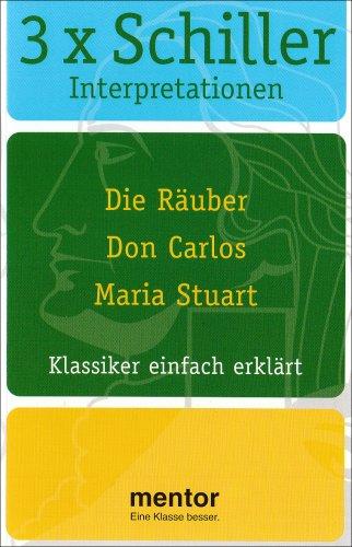 3x Schiller Interpretationen: Die Räuber / Don: div.
