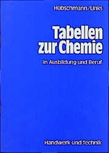 Tabellen zur Chemie und zur Analytik: in: Hübschmann, Ulrich, Links,