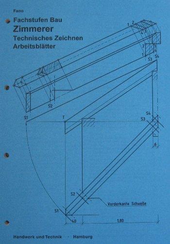 9783582359315: Zimmerer, Technisches Zeichnen, Arbeitsblätter