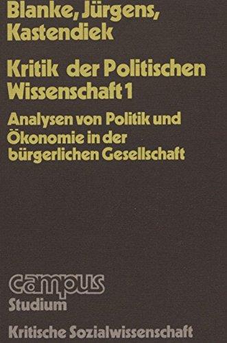 9783585325041: Kritik der Politischen Wissenschaft I