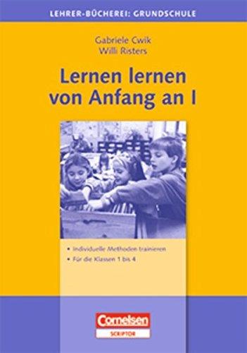 9783589050826: Lernen lernen von Anfang an 1: Individuelle Methoden trainieren - Für die Klassen 1-4