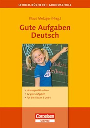 Gute Aufgaben Deutsch: Cornelsen Vlg Scriptor