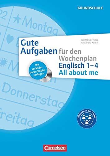 9783589163908: Gute Aufgaben für den Wochenplan - Englisch: All about me 1-4