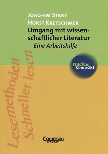 9783589210480: Umgang mit wissenschaftlicher Literatur: Eine Arbeitshilfe für das sozial- und geisteswissenschaftliche Studium