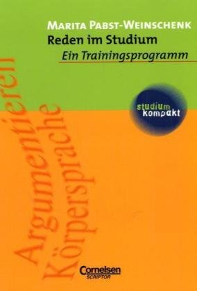 9783589210688: studium kompakt - P�dagogik: Reden im Studium: Ein Trainingsprogramm. Studienbuch
