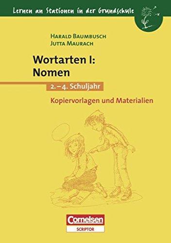 9783589214068: Lernen an Stationen in der Grundschule, Kopiervorlagen und Materialien, Wortarten, neue Rechtschreibung