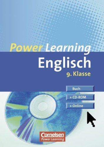 9783589215126: Power Learning - Englisch: 9. Schuljahr - Übungsbuch mit Lösungsheft, CD-ROM und Online-Angebot