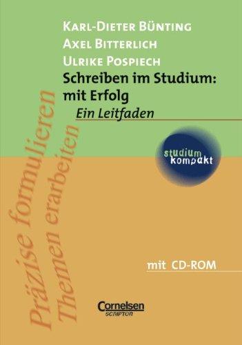 9783589216901: Schreiben im Studium: mit Erfolg. Inkl. CDROM. Ein Leitfaden.