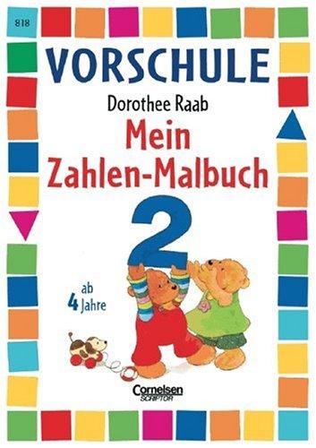 9783589218677: Vorschule. Mein Zahlen-Malbuch