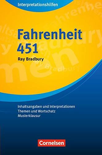 9783589222223: Fahrenheit 451 (Neubearbeitung): Inhaltsangaben und Interpretationen, Themen und Wortschatz, Musterklausur