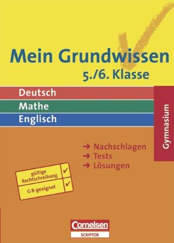 Mein Grundwissen. 5./6. Schuljahr. Schülerbuch. Gymnasium. Neue: Abele, Hans Karl