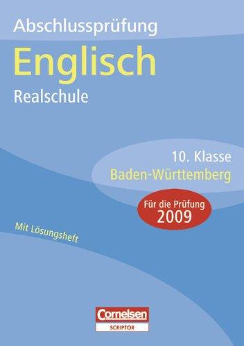 9783589224340: Abschlussprüfung Englisch Realschule Baden-Württemberg 10. Klasse. Sticker 2009