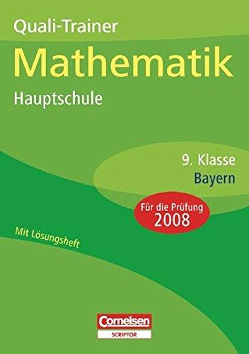 9783589224357: Quali-Trainer Mathematik Hauptschule Bayern 9. Klasse. Sticker 2009