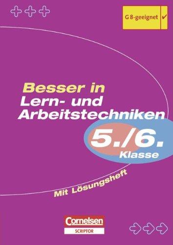 9783589224425: Besser in Lern- und Arbeitstechniken 5./6. Klasse. Sekundarstufe 1