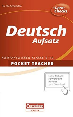 Pocket Teacher - Sekundarstufe I: Deutsch: Aufsatz: Berger, Dietrich, Kienzler,
