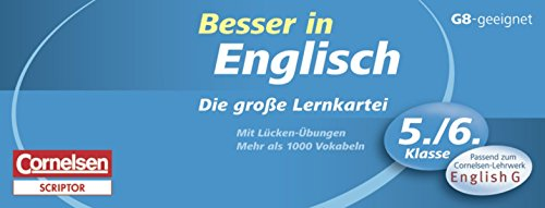 9783589229987: Besser in der Sekundarstufe I  Englisch. Die große Lernkartei 5./6. Schuljahr: Passend zum Cornelsen-Lehrwerk
