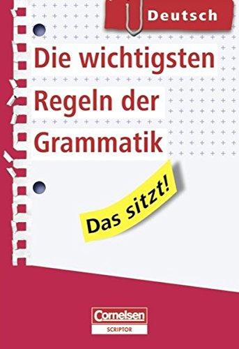 9783589231393: Das sitzt! Deutsch. Die wichtigsten Regeln der Grammatik: Heft im Hosentaschenformat