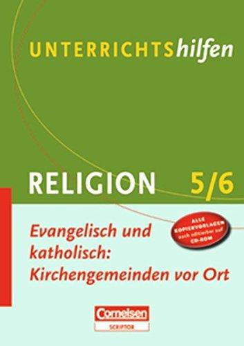 9783589231997: Unterrichtshilfen Religion. Evangelisch und katholisch: Kirchengemeinden vor Ort