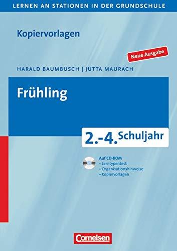 9783589233786: Lernen an Stationen in der Grundschule 2.-4. Schuljahr. Fr�hling