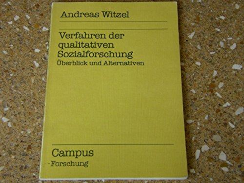 9783593331737: Verfahren der qualitativen Sozialforschung: Uberblick und Alternativen (Campus Forschung) (German Edition)