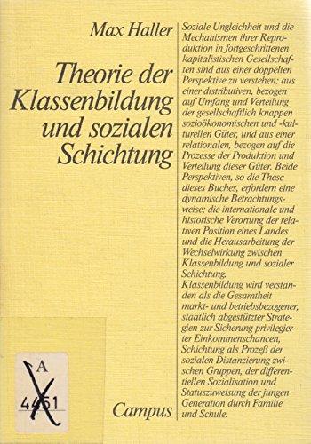 9783593332079: Theorie der Klassenbildung und sozialen Schichtung (German Edition)