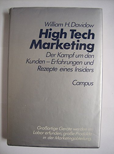 9783593338019: Marketing High Technology