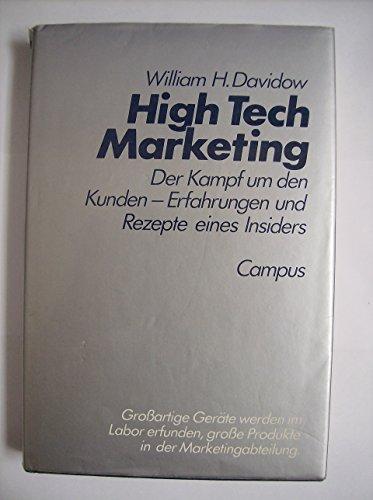 9783593338019: Marketing High Technology