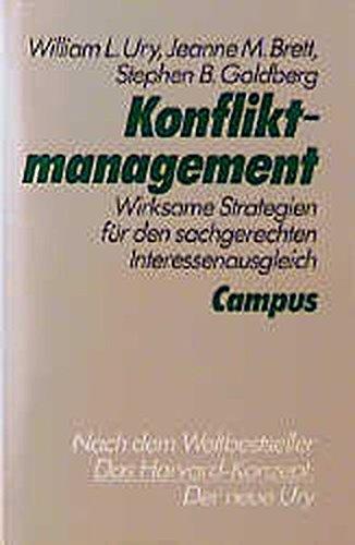 9783593343259: Konfliktmanagement: Wirksame Strategien für den sachgerechten Interessenausgleich