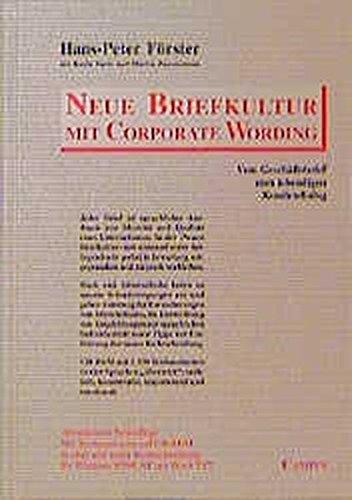 9783593362632 Neue Briefkultur Mit Corporate Wording Vom