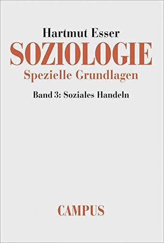 9783593371467: Soziologie. Spezielle Grundlagen 3: Soziales Handeln