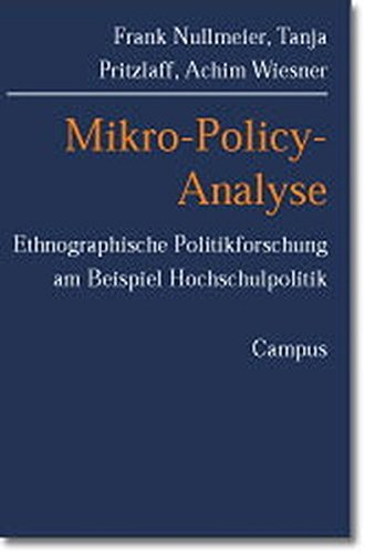 9783593372815: Mikro-Policy-Analyse.