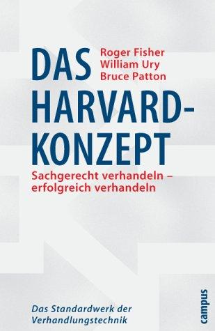 Das Harvard-Konzept. Das Standardwerk der Verhandlungstechnik. Amazon.de: Roger Fisher