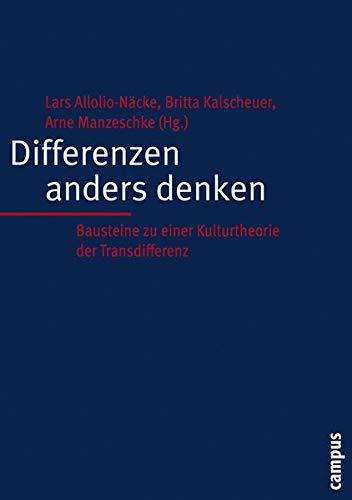 9783593375441: Differenzen anders denken: Bausteine zu einer Kulturtheorie der Transdifferenz