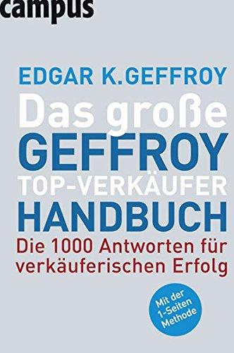 9783593386645: Das Große Geffroy Top-Verkäufer-Handbuch