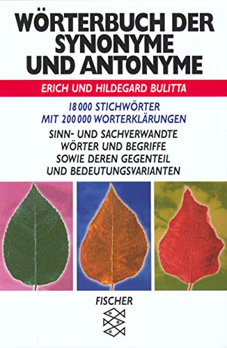 Worterbuch Der Synonyme Und Antonyme (German Edition): Distribooks, Inc; Bulitta,