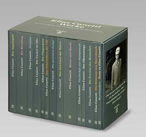 9783596130504: Werke: Das Augenspiel / Die Blendung / Dramen / Die Fackel im Ohr / Die Fliegenpein / Das Geheimherz der Uhr / Die gerettete Zunge / Das Gewissen der ... / Wortmasken: Texte zu Elias Canetti