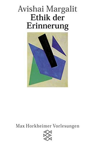 9783596147175: Ethik der Erinnerung. Max Horkheimer Vorlesungen.