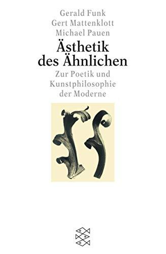 9783596150038: Asthetik des Ahnlichen (German Edition)
