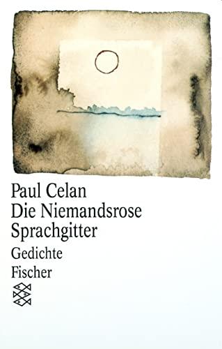 9783596222230: Die Niemandsrose/Sprachgitter