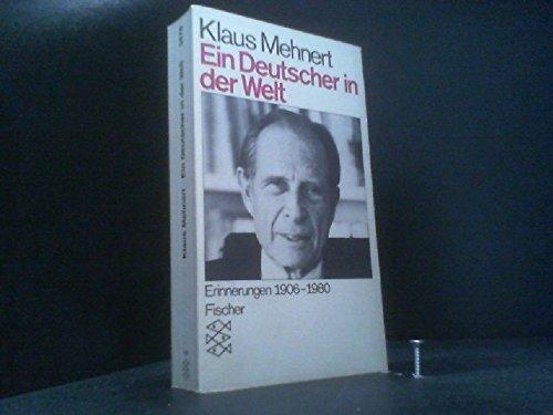 9783596234783: Ein Deutscher in der Welt. Erinnerungen 1906-1981