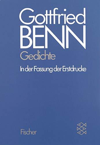 Werkausgabe I. Gedichte.: Benn, Gottfried