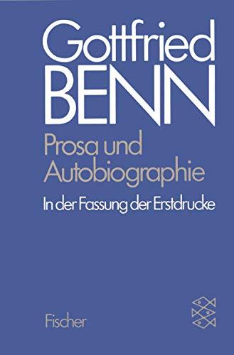 Gottfried Benn. Gesammelte Werke in der Fassung: Benn, Gottfried