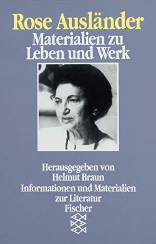 9783596264988: Rose Auslander: Materialien zu Leben und Werk (Informationen und Materialien zur Literatur) (German Edition)