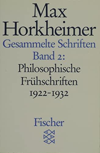 9783596273768: Gesammelte Schriften II: Philosophische Frühschriften 1922 - 1932