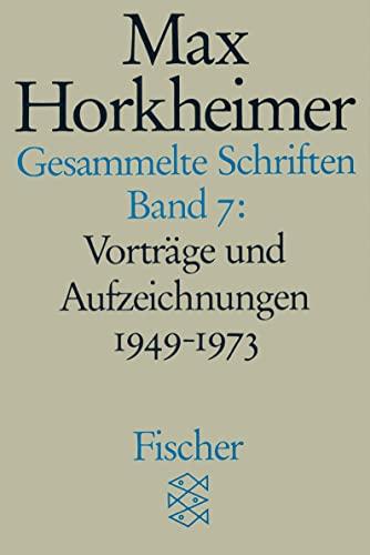 9783596273812: Gesammelte Schriften VII: Vorträge und Aufzeichnungen 1949-1973. 1. Philosophisches 2. Würdigungen 3. Gespräche: 7381