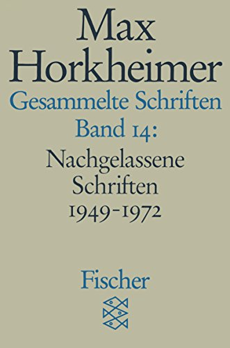 9783596273881: Gesammelte Schriften XIV: Nachgelassene Schriften 1949 - 1972. 5. Notizen