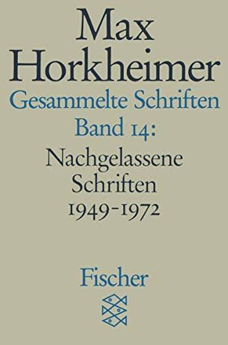 9783596273881: Gesammelte Schriften XIV. Nachgelassene Schriften 1949 - 1972. 5. Notizen.