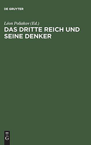 9783598046018: Das Dritte Reich und seine Denker (German Edition)