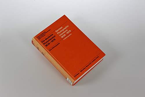 German Photographic Literature, 1839-1978 (Schriftenreihe der Deutschen: Frank Heidtmann, Hans-Joachim