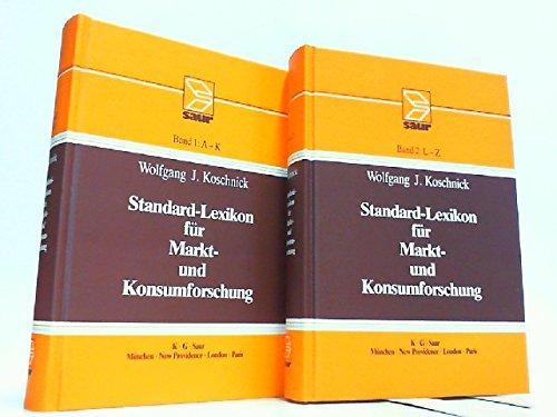 9783598112478: Standard-Lexikon für Markt- und Konsumforschung